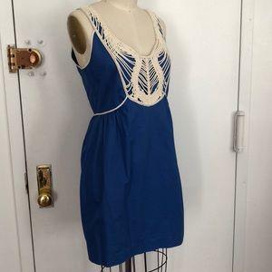 Dresses & Skirts - Blue cotton embellished sun dress 4/6